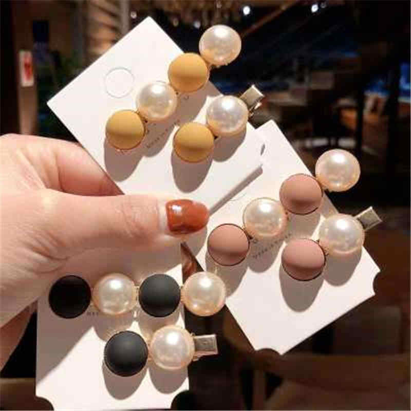 2019 Spring Candy Scrub Bead Hairpin Sweet Imitiation Pearl Hair Clips Fashion Hair Accessories for Women Beads Hairpins