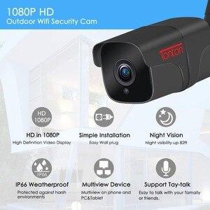 Image 2 - Tonton wi fi câmera ip em dois sentidos de áudio ao ar livre 1080 p 720 p à prova dwireless água sem fio câmera segurança metal tf cartão registro p2p sony sensor