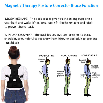 Posture Corrector Magnetic Therapy Brace Shoulder Back Support Belt for Men Women Braces & Supports Belt Shoulder Posture Beauty and Health Personal Care Appliance