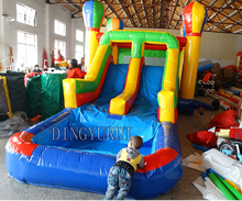 PVC commercial  inflatable water slide combo ,inflatable bouncer house,inflatable pool  for adults and kids free shipping by sea high quality pvc commercial inflatable slide jumping slide with double lane for children