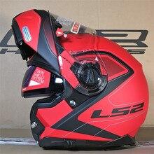 LS2 FF325 stroboscope Flip Up casque de Moto route modulaire CIVIK ZONE Casques Capacete Cascos Moto Casques