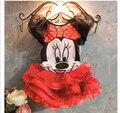 Venta CALIENTE de la Nueva Ropa de Bebé Niñas Establece niñas Minnie Mouse camisetas + Falda Niños 2 unids Traje Al Por Menor
