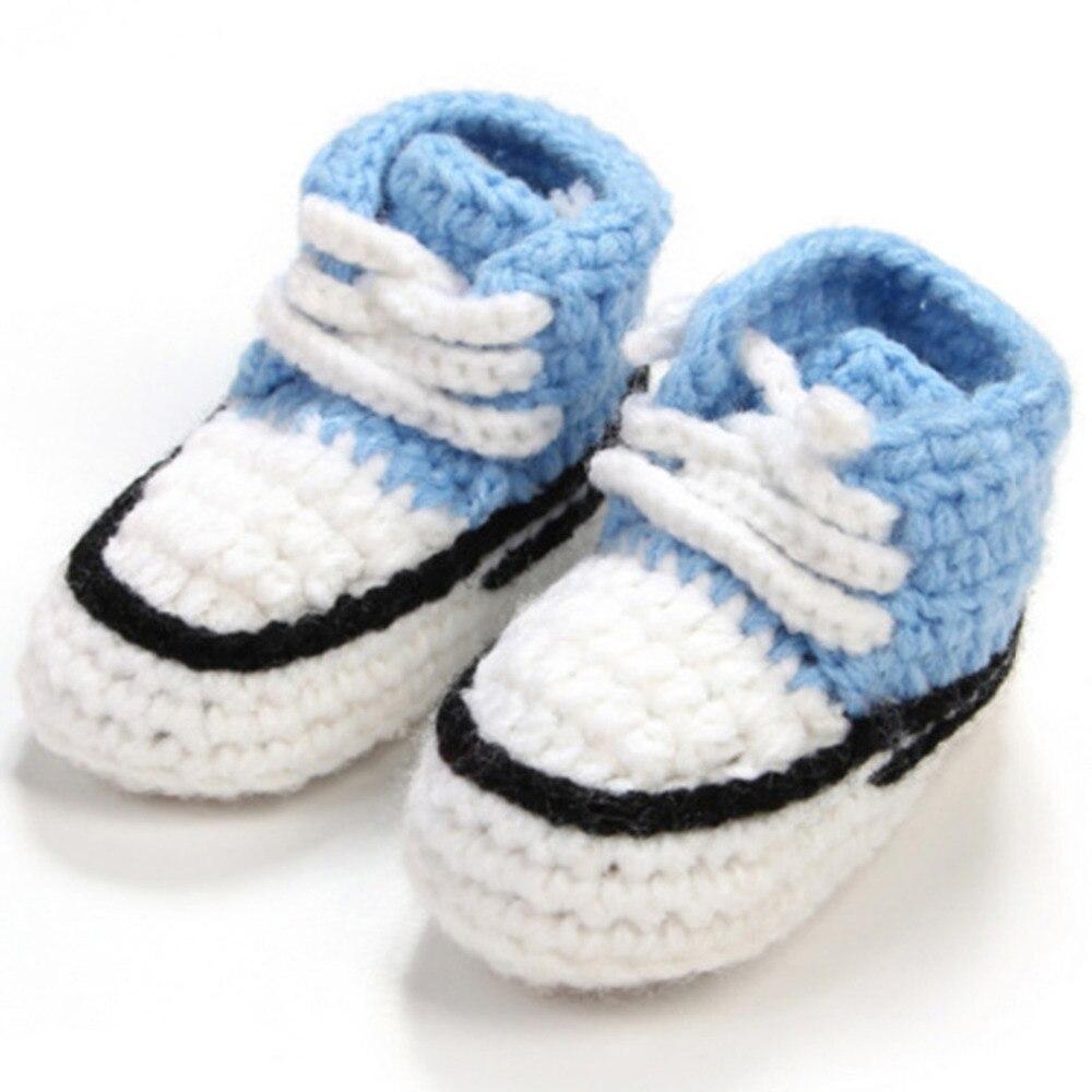 ③Ganchillo Zapatos para bebé unisex hecho a mano hecho punto Niño ...