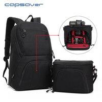 Capsaver Multi Functional DSLR Camera Bag Shoulder Backpack 15 6 Laptop Case Carry Bag For Outdoor
