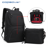 Capsaver Multi Functional DSLR Camera Bag Shoulder Backpack 15 6 Laptop Case Carry Bag For Outdoor