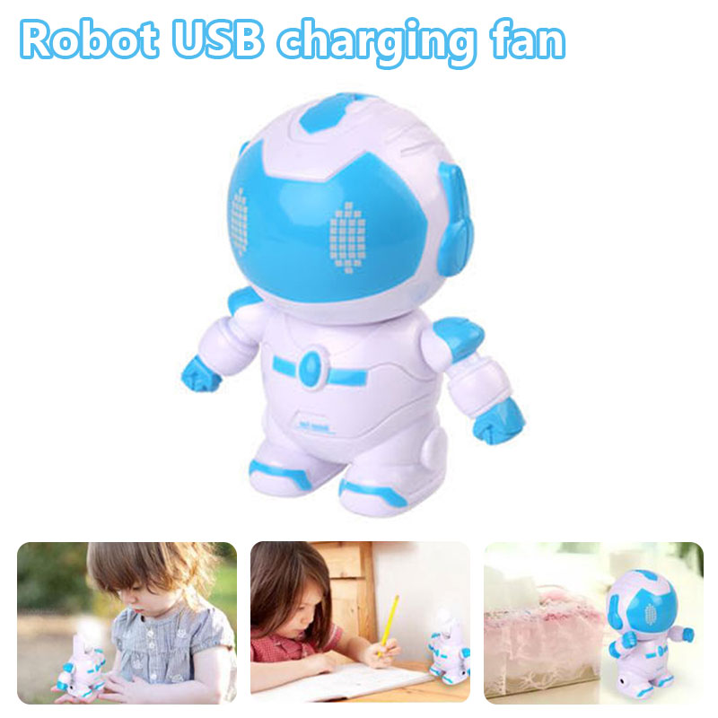 2019 Drop Shpping Robot Mini Electric Fan Robot Fan Creative Portable Kids USB Fan for Travel2019 Drop Shpping Robot Mini Electric Fan Robot Fan Creative Portable Kids USB Fan for Travel