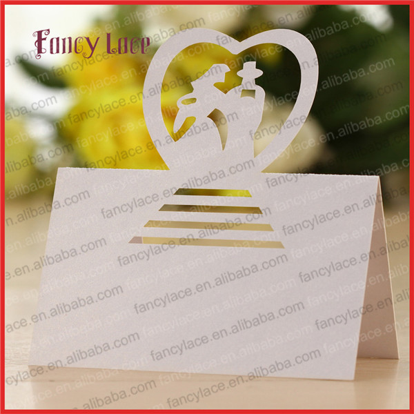 50psc wholesale lovers shaped wedding invitation for Decoration table pour invites
