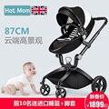 Hotmom suspensão luz carrinho de bebê carrinho de bebê carrinho de mão criança