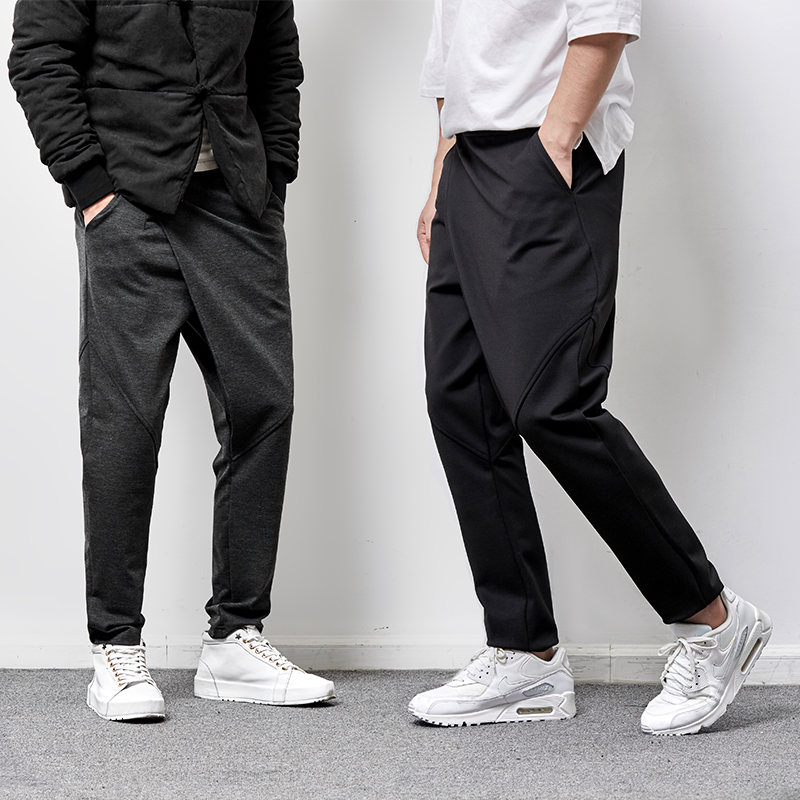 M-6XL!!! 2017  Young men's casual pants men's cultivate one's morality haroun height feet pants pants tide restoring ancient way