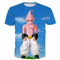 New Arrive Cool Buu T Shirts Dragon Ball Z Super Saiyan Tees Men Women Anime Tshirts