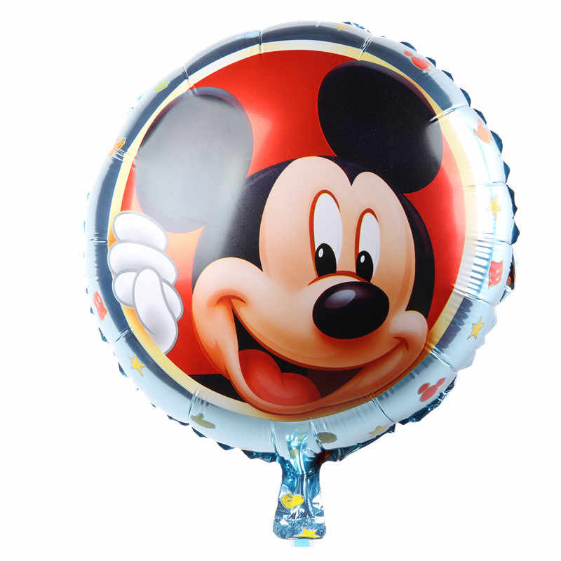 The new children's toy round aluminum balloons birthday party balloon  Mickey balloon wholesale high quality
