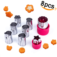 Vegetable Cutter Shapes Set Mini Flower Cookie Cutters Fruit Mold for Kids 8pcs/Set