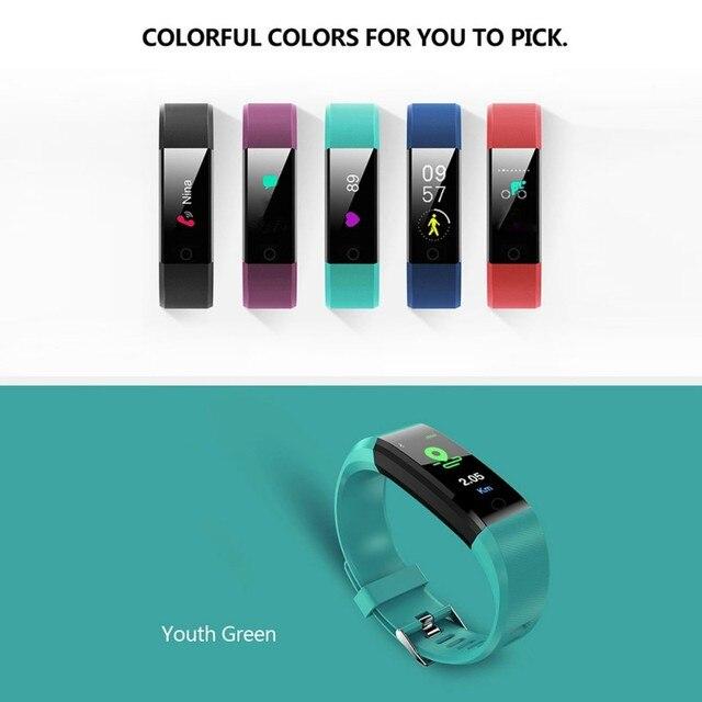 5 צבעים כדי לבחור צבע מסך חכם צמיד ספורט חכם שעון לחץ דם תרגיל דינמי לב קצב ניטור ספירת צעד