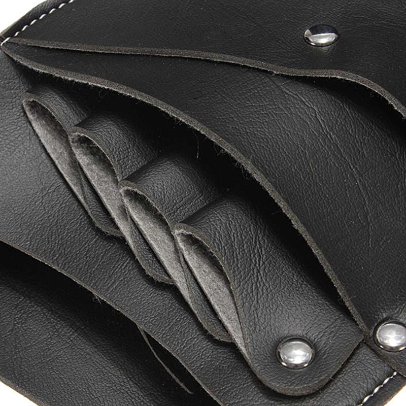 Profesional Kulit Keling Klip Bag Salon Gunting rambut Holster Pouch  Pemegang Case Hitam di Rambut Gunting ca8cc6f928