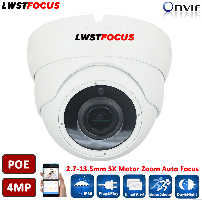 H.265/H.264 4MP 2.7-13mm 5X Motor Zoom Auto Focus OV4689+Hi3516D IP Camera 4MP IP66 Outdoor CCTV IP Camera POE Optional ONVIF2.4 ds 2cd4026fwd a english version 2mp ultra low light smart cctv ip camera poe auto back focus without lens h 264