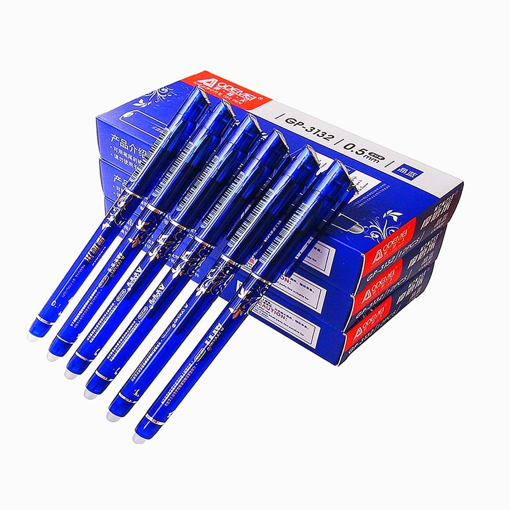 Erasable Pen Nib 0.5mm Blue Black Pen Length Ballpoint pens Cartridge Sales Gifts Boutique Student Stationery Office Pen Writing