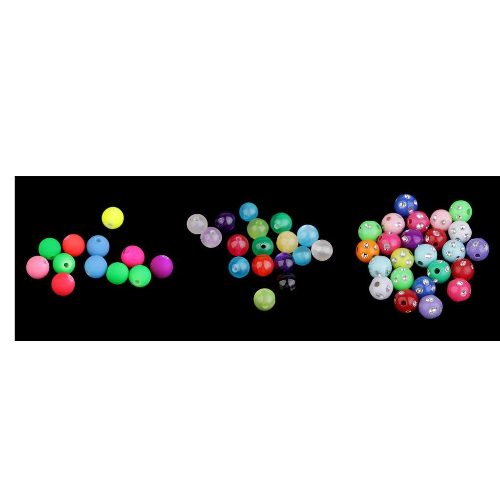 100 Pcs צבעוני גדול חור עגול שרף חרוזים קסמי 8 mm Fit תכשיטי צמיד שרשרת עגילי ממצאי ביצוע אביזרי קרפט