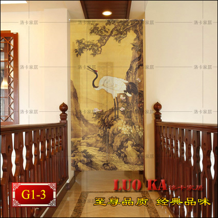 Feng Shui curtain cloth cut off half-curtain air-conditioned bedroom kitchen entrance curtain decorative custom Songling Hok TinFeng Shui curtain cloth cut off half-curtain air-conditioned bedroom kitchen entrance curtain decorative custom Songling Hok Tin