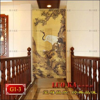 Feng shui cortina di stoffa tagliato half tenda con aria ...