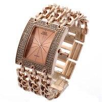 แฟชั่นสบายๆนาฬิกาข้อมือผู้หญิงหรูหราRose G Oldสแตน