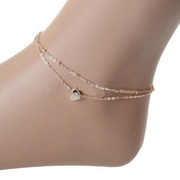 envo de la nueva joyera de moda pie de doble cadena de oro pulseras de cadena