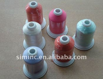 120D/2 40wt polyester embroidery thread, 60 different colors, 1000m spool with free shipping