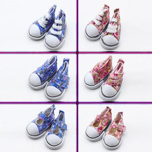 купить Size for 1/6 BJD Doll Shoes Fashion Canvas 5cm Shoes for Russian DIY Handmade Doll Accessories Mini Toy Shoes онлайн