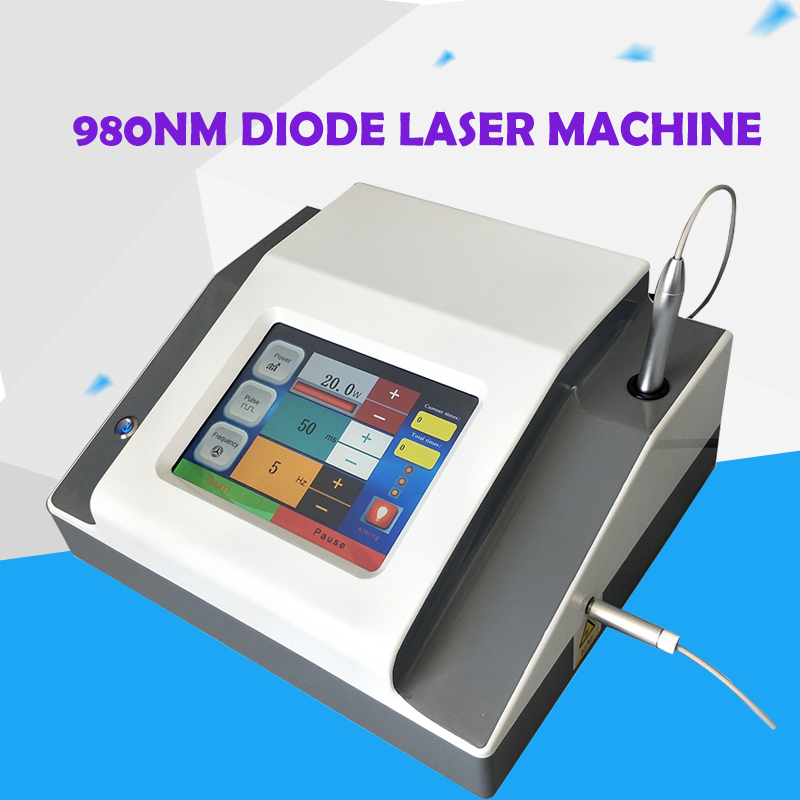 Effective 980 Diode Portable Spider Vein Removal Machine  980nm Diode Vascular Removal Beauty Equipment CE DHL