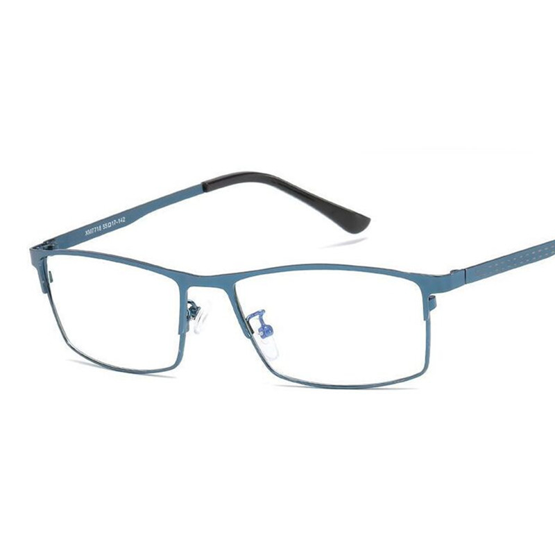 Eye Protection Blue Light Glasses Metal Commerce Frame Eyeglasses For Men Anti Blue Ray Glasses Computer Gaming Glasses