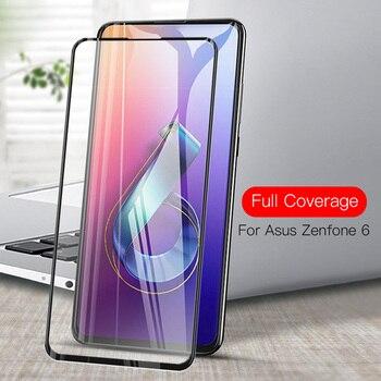 Перейти на Алиэкспресс и купить Закаленное стекло для ASUS Zenfone 6 стекло полное покрытие для Zenfone 6 6Z 2019 ZS630KL Zenfone6 6 Z Защитная пленка для экрана