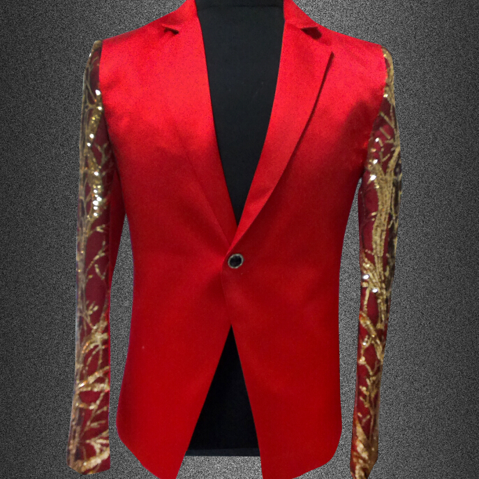 Popular Red Gold Suit Jacket-Buy Cheap Red Gold Suit Jacket lots ...