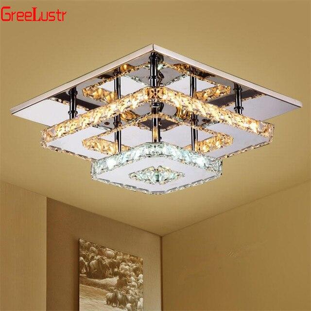K9 Kristall Decke Lampe Leuchte Moderne Kronleuchter Lüster Led Plafond Für Treppen Flur Indoor Hause Decke lampen Luminaria