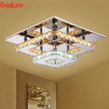 K9 lâmpada do teto de cristal luminária moderna lustre lustres led plafond para corredor da escada interior casa lâmpadas teto luminaria