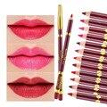 1 pc Fosco veludo vermelho caneta à prova d' água durável não-stick copo caneta lábio maquiagem labiales compõem pastel um levre dudak kalemi