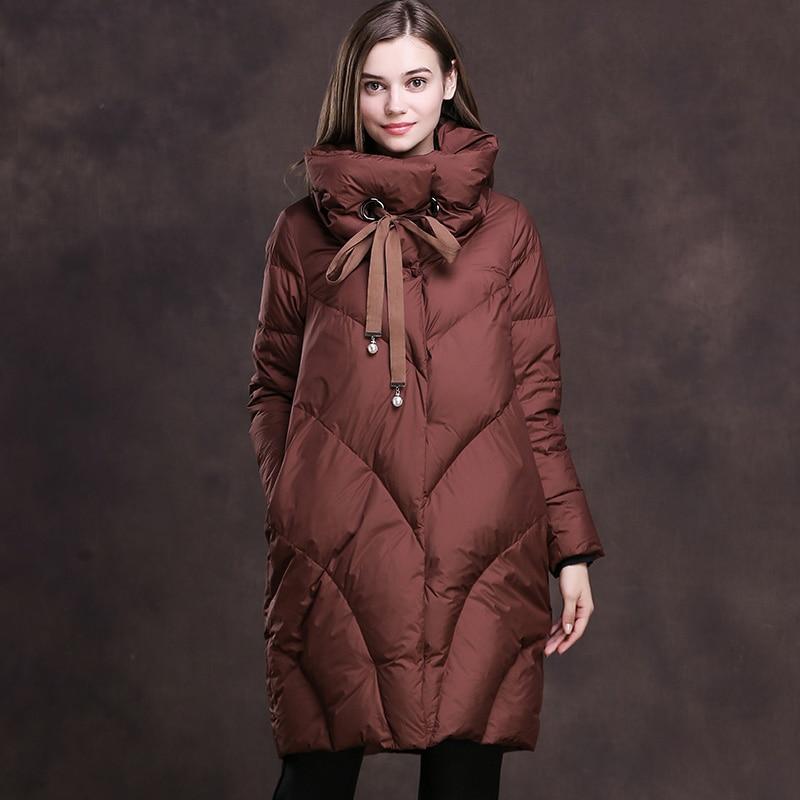 Women Loose Long Down Jacket
