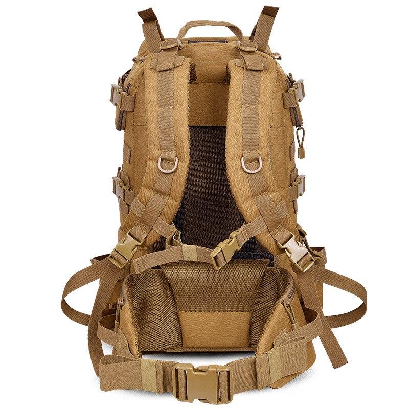 Sac à dos tactique de l'armée militaire en plein air 50L sac à dos de randonnée de Camping de grande capacité sac à dos de voyage bolso militar hombre - 3