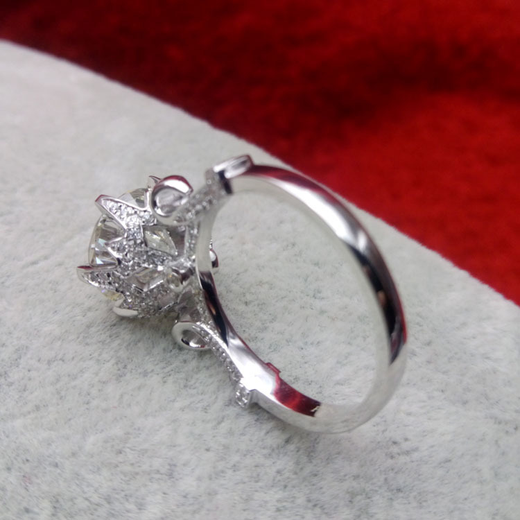 Aliexpress Com Buy Fantastic Noble Design 4 Carat Natural Moissanite Engagement Ring Original 18k White Gold Wedding Anniversary Ring For Women From