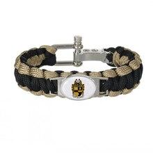 Custom Greek Letters Fraternity ACCESSORIES GIFT 550 Paracord Bracelets Alpha phi Alpha Fraternit Adjustable Survival Bracelet