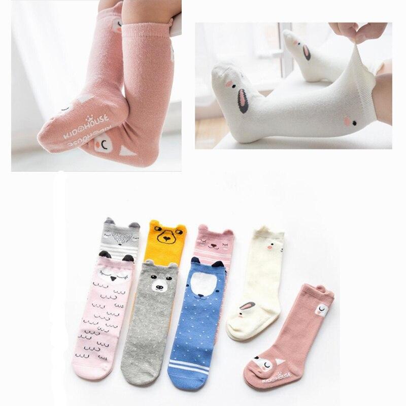1 Paar Cartoon Winter Baby Socken Anti Slip Baumwolle Tiere Baby Jungen Mädchen Lange Socke Neugeborenen Kleinkind Kniehohe Socken 0-24 M