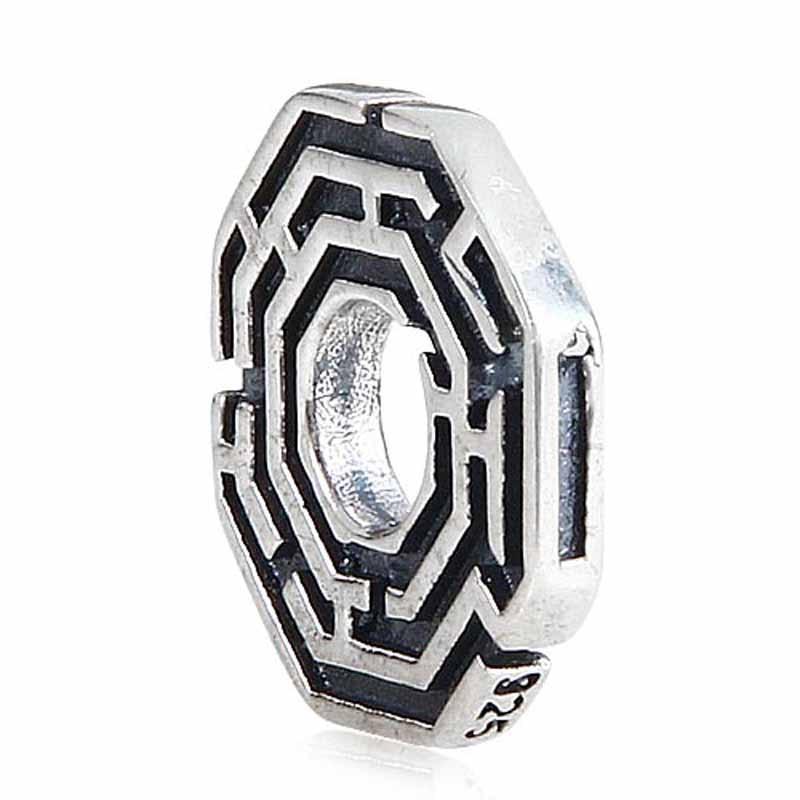 925 ստերլինգ արծաթե լաբիրինթոսի բշտիկ - Նորաձև զարդեր - Լուսանկար 3