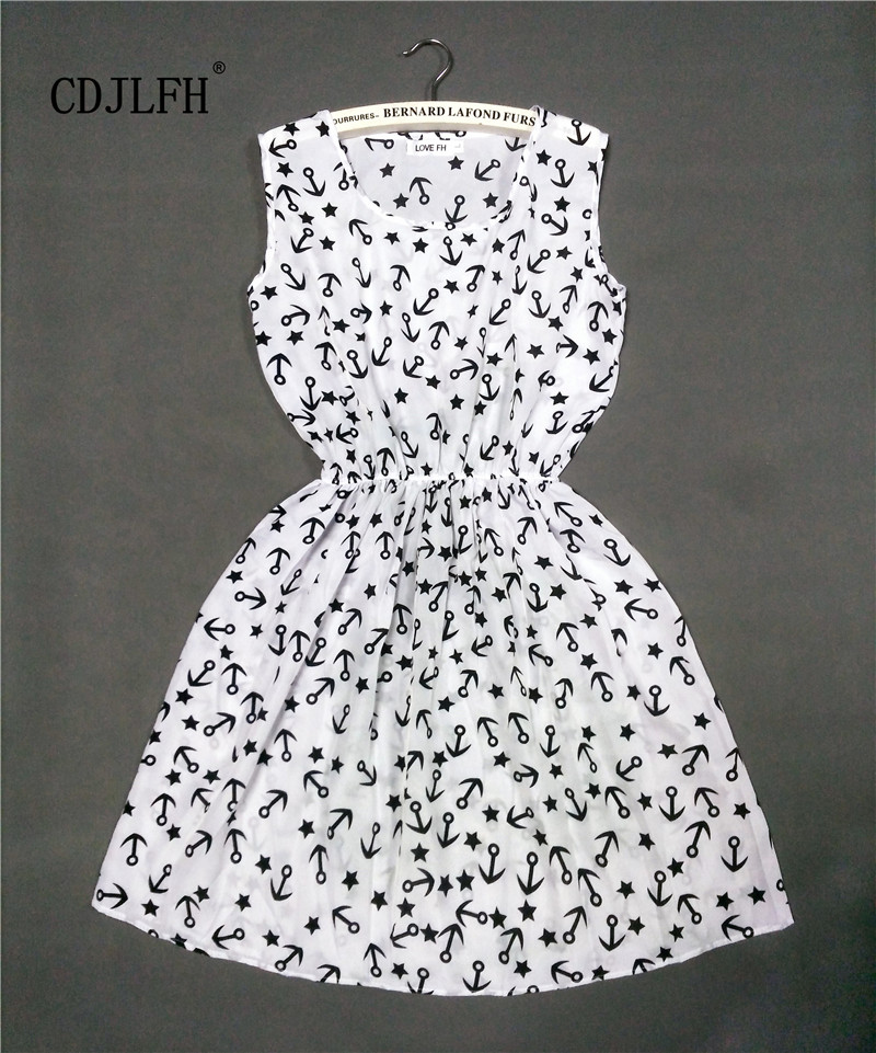 2015 HOT new 20 Styles Women casual Bohemian floral leopard sleeveless vest printed beach chiffon dress NZ17