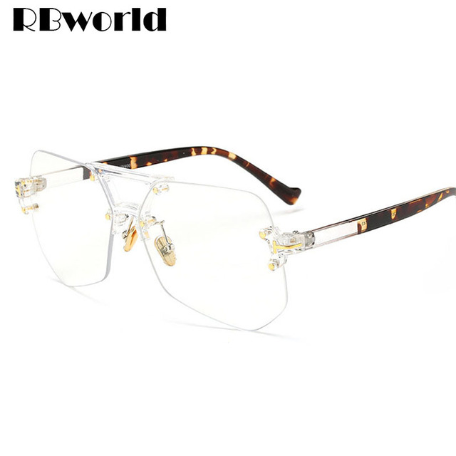389daf0bebe 2017 New Brand Clear Eyeglasses Frame Men Big Optical Glasses Women  Computer Glasses Frame Business Men