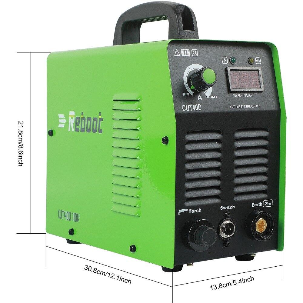 Reboot Cutting Machine Plasma Cutter 35Amps  220V/110V Portable Metal Cutter 2/5 Inch Clean Cut Inverter CUT 40 Welder