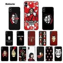 Babaite Spain TV La Casa de papel Novelty Fundas Phone Case Cover for Apple iPhone 8 7 6 6S Plus X XS MAX 5 5S SE XR Cases