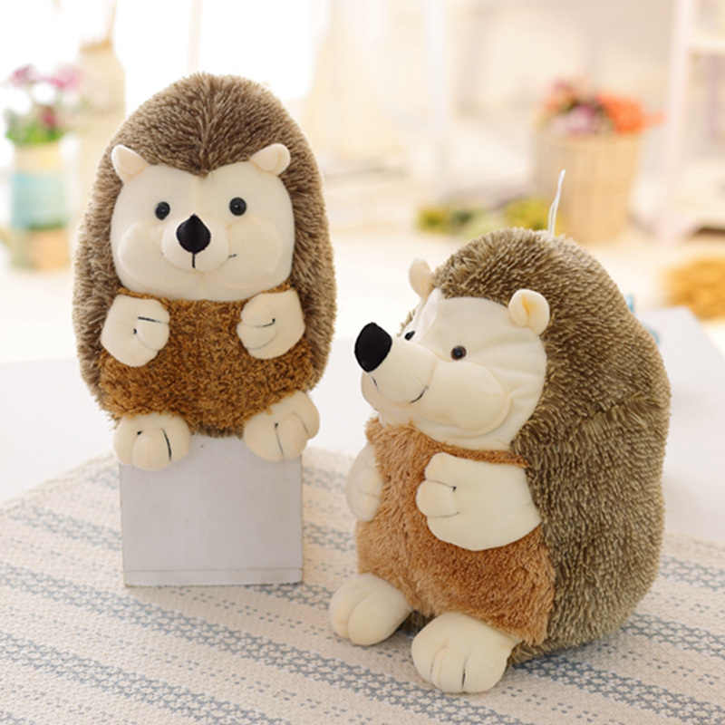 Hot 1PC 22cm Cute Simulation Soft Hedgehog Animal Doll Stuffed Plush Toy christmas Gift for Children Kids Room Home Decoration