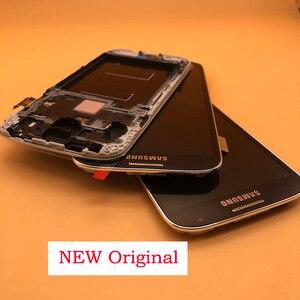 Image 1 - 5.0 המקורי LCD תצוגת מסך מגע Digitizer לסמסונג גלקסי S4 GT i9505 i9500 i9505 i9506 i337 LCD עם מסגרת