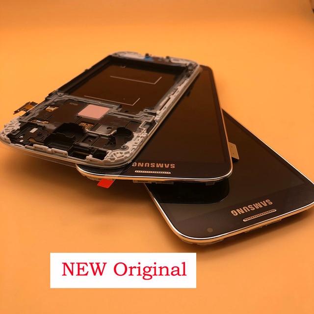 5.0 الأصلي شاشة الكريستال السائل محول الأرقام بشاشة تعمل بلمس لسامسونج غالاكسي S4 GT i9505 i9500 i9505 i9506 i337 LCD مع الإطار
