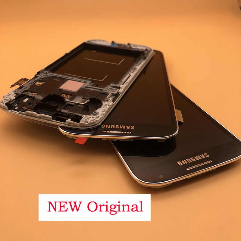 5.0 'الأصلي شاشة الكريستال السائل محول الأرقام بشاشة تعمل بلمس لسامسونج غالاكسي S4 GT-i9505 i9500 i9505 i9506 i337 LCD مع الإطار