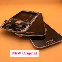 ЖК экран с дигитайзером для SAMSUNG Galaxy S4, ЖК дисплей с рамкой, 5,0 дюйма, Оригинальный сенсорный экран, дигитайзер для SAMSUNG Galaxy S4, i9500, i9505, i9506, i337