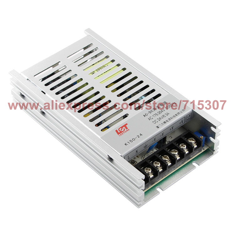 Leetone K150-24 150W switching power supply 24V 6.25A high efficiency 176-264VAC input with OVP & OTP for 3 years warranty rps369 10 pieces per lot 36 vdc 9 7a regulated switching power supply with 85 132 176 265 vac input